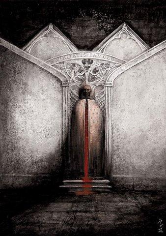 Santiago Caruso nos regala obras de un horror absoluto. Su impresionante trabajo logra tocar las fibras de un horror que llevaremos siempre en nuestros ojos...