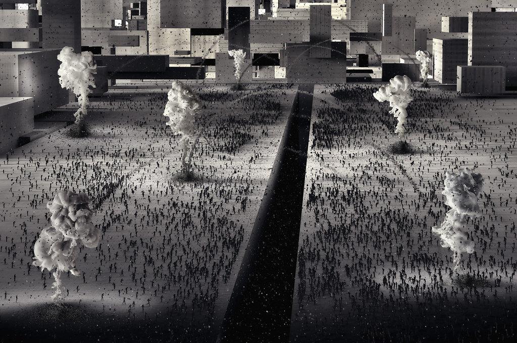 """""""Metachaos"""", de Alessandro Bavari. Un génesis alucinante. Creación pura por la separación violenta de los opuestos."""