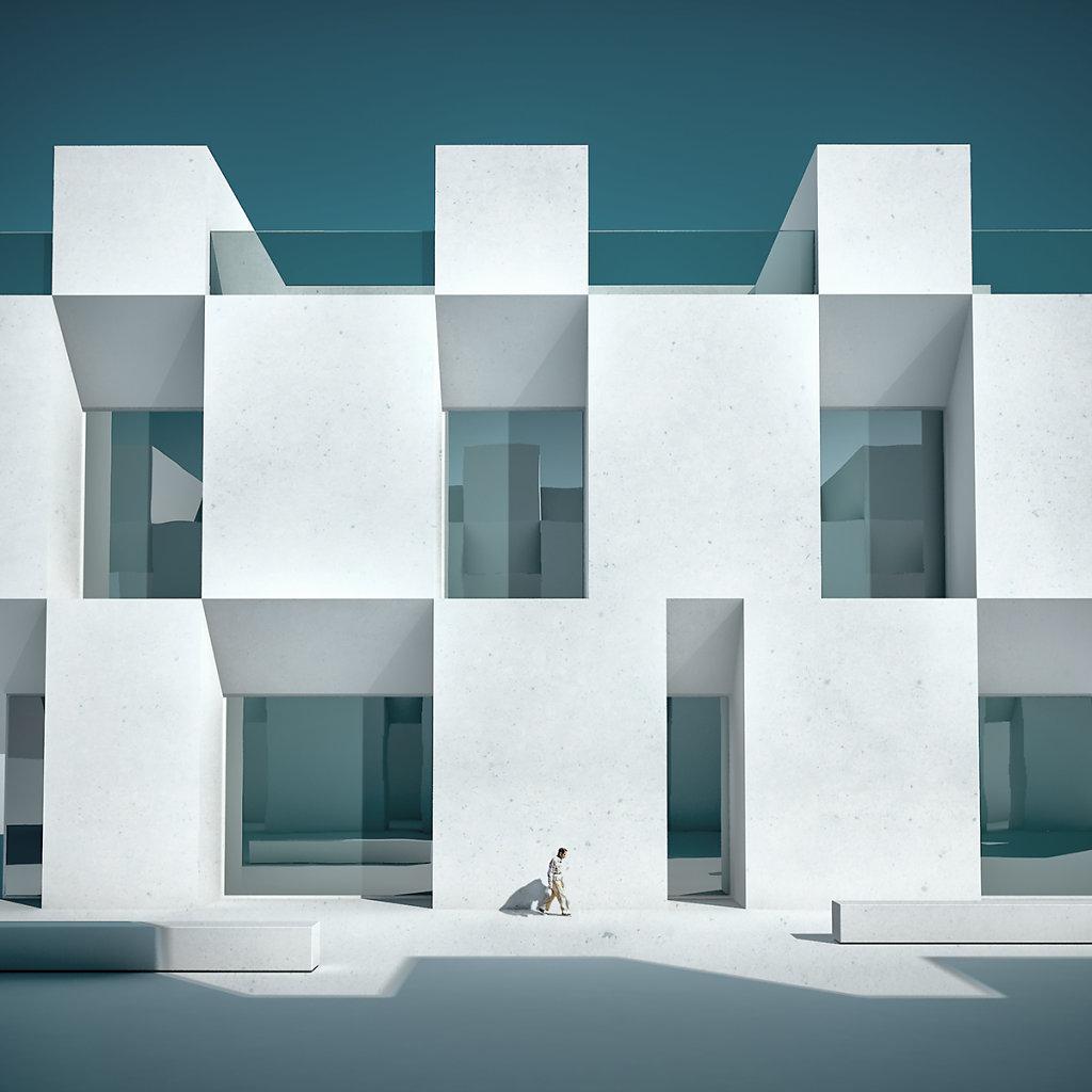 """Michele Durazzi"" artist cinema4d illustration architecture render art dystopian surreal fantasy artwork"