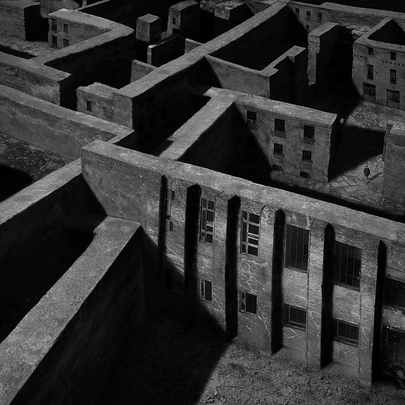 """""""Marcin Sacha"""" photography art fascinating chiaroscuro surreal loneliness """"abandoned places"""" dark """"black and white"""" dystopia"""