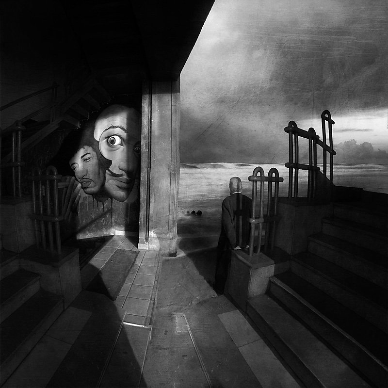 """Marcin Sacha"" photography art fascinating chiaroscuro surreal loneliness ""abandoned places"" dark ""black and white"" dystopia"
