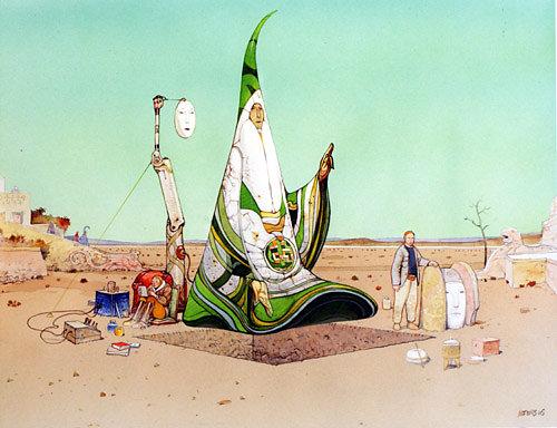 """Moebius"" ""Jean Giraud"" ""Major Grubert"" art illustration comic indiecomics scifi surreal dystopia amazing imagination"