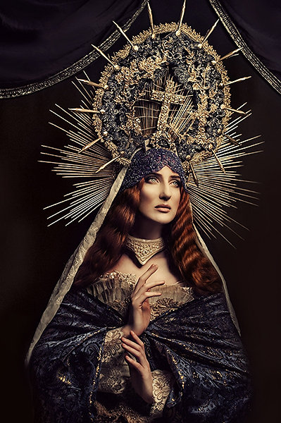 """Kasia Widmanska"" Photograpy Artist ""Katarzyna Konieczka"" Fashion Design ""Contemporary Art"" costumes surreal symbols religion"