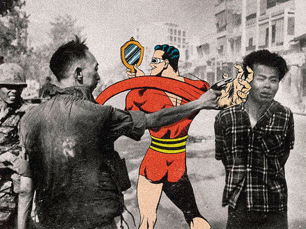 """Butcher Billy"" parody comics ""social criticism"" artist illustrator photoshop photomanipulation history ""iconic photos"""