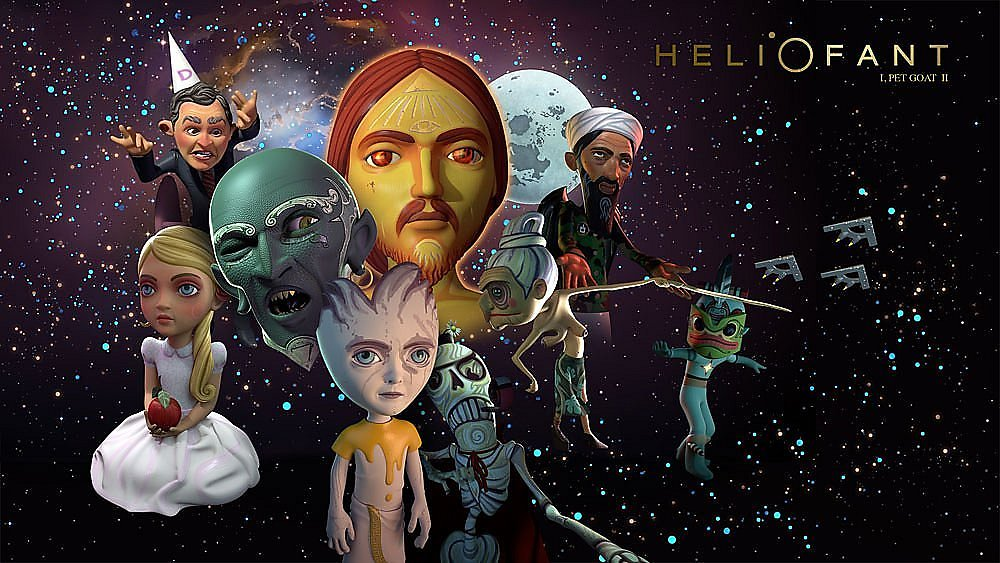 """I Pet Goat by Heliofant"" ocultism symbolism arcane mysterious ""Conspiracy theories"" illuminati transformation evolution ""Animated short"""