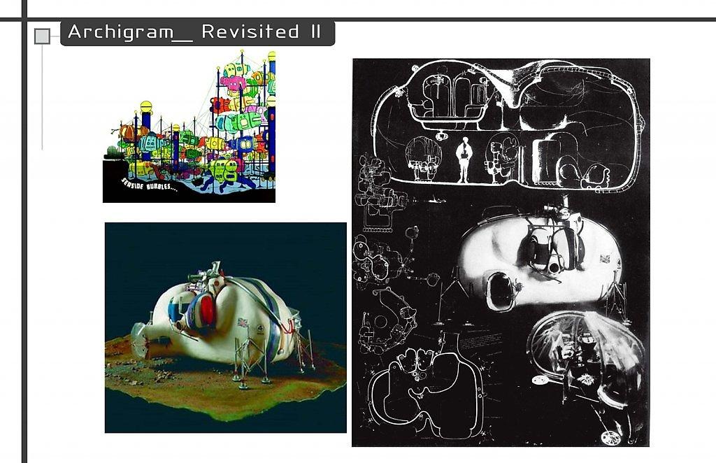"""""""Living Pod by David Greene"""" Archigram architecture futuristic imaginary """"Future Cities"""" scifi surreal """"Dystopian Cities"""""""