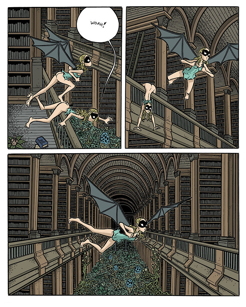 """""""Cochlea and Eustachia by Hans Rickheit"""" erotic """"web comic"""" """"indie comics"""" bizarre surreal dreams nightmares """"Alice in Wonderland"""" fantasy mysterious """"abandoned places"""" """"Rated-R"""" """"+18"""""""