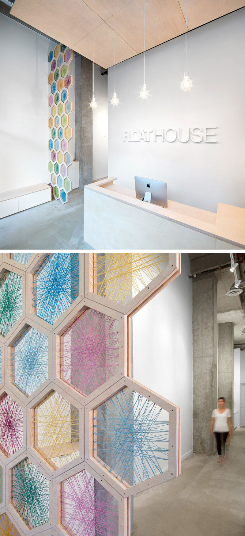 hexagons applied to contemporary architecture beautiful interior design for houses and building