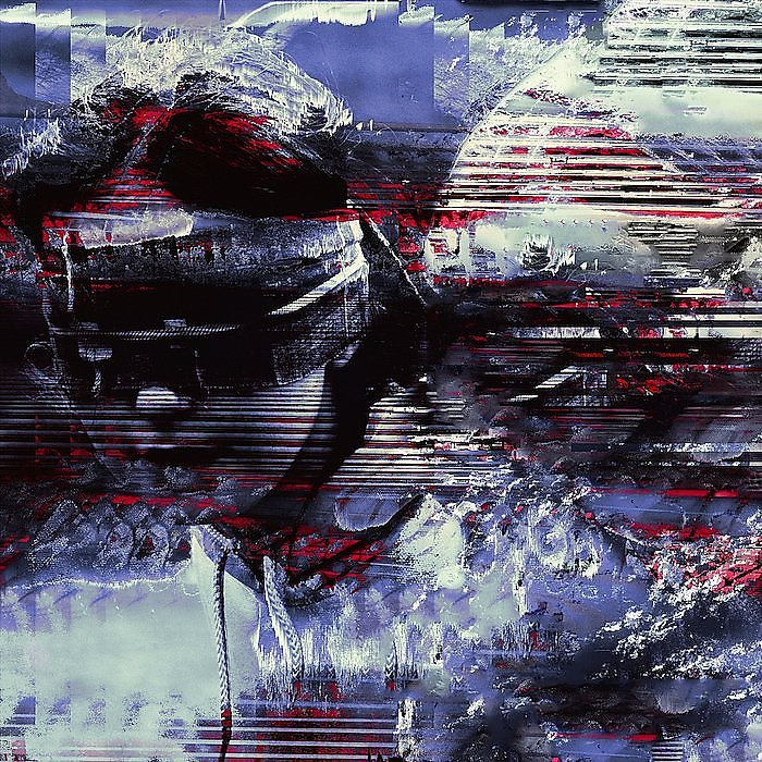 Glitch art contemporary artists databending and datamoshing digital photography intervention and distortion photoshop vaporwave