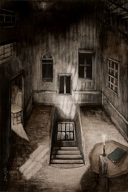 Santiago Caruso artist painter illustrator from Argentina surreal drawings nightmarish paintings