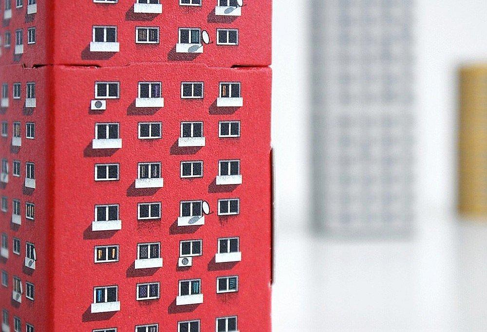 Blokoshka by Zupagrafika graphic design project paper cutouts soviet brutalism eastern bloc modernist housing architecture world war II