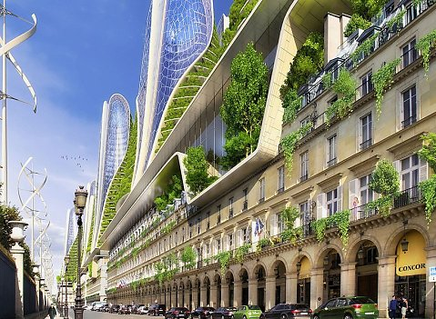 Vincent Callebaut contemporary architecture utopian and dystopian visions of the future urbanism vertical gardens eco-friendly structures