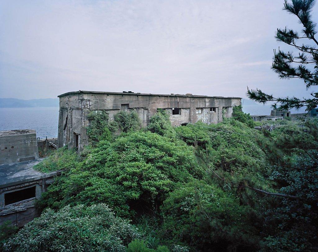 """Hashima"" series by Andrew Meredith photographer abandoned places urban exploration japan gunkanjima surreal dystopian haunted island postapocalyptic ruins"