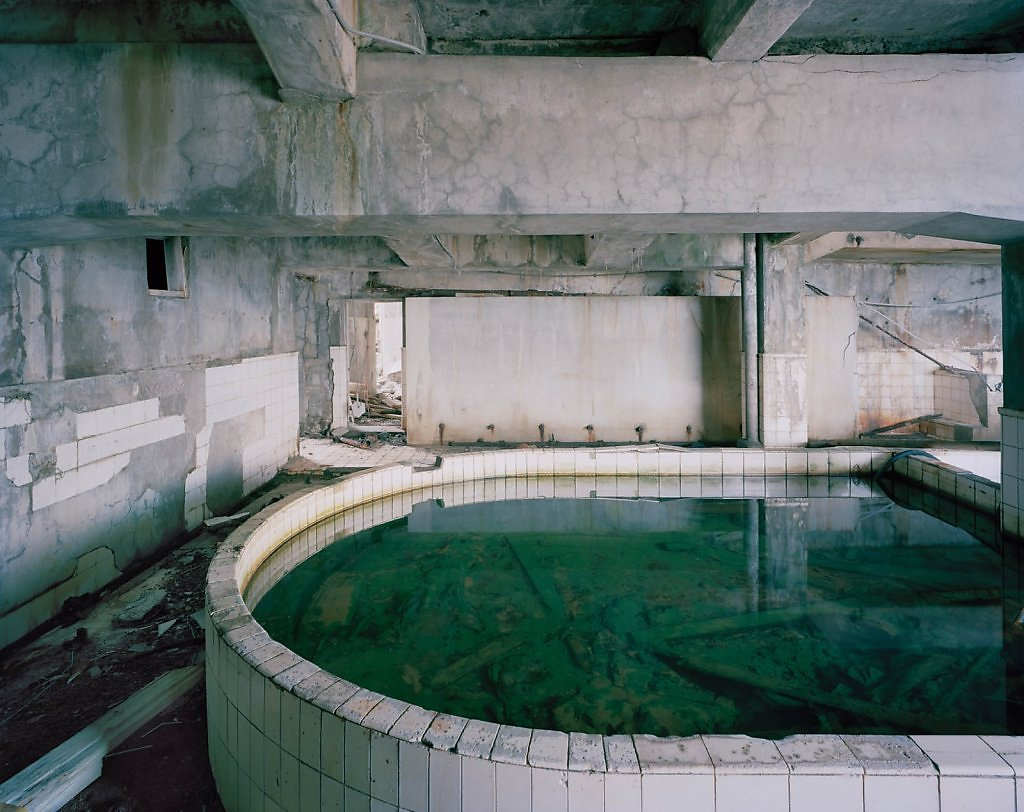 """Hashima"" series by Andrew Meredith photographer abandoned places urban exploration japan gunkanjima surreal dystopian haunted island postapocalyptic ruins"