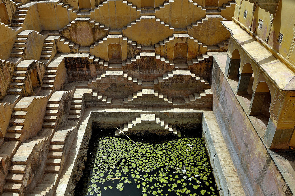 Stepwells Baori Baoli underground pools and wellsprings wonders of ancient architecture from India photographs by Victoria Lautman