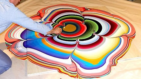 Holton Rower Tall painting contemporary art readymade psychedelic mesmerizing colorful random beautiful painting patterns