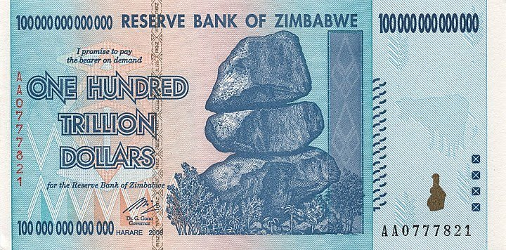historic-currency-bills-coins-zimbawe-one-hundred-trillion-dollars-bill