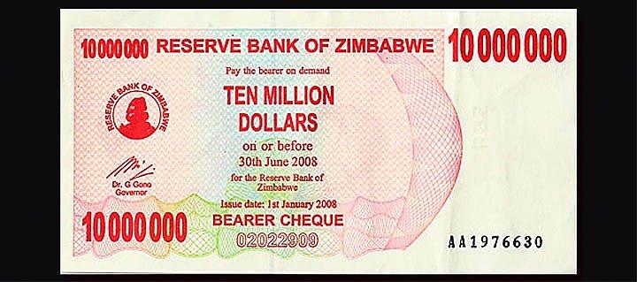 historic-currency-bills-coins-zimbawe-ten-million-dollars-bill