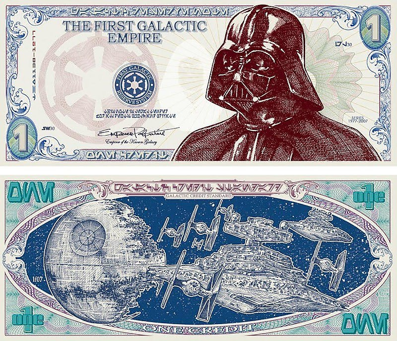 star-wars-darth-vader-fantasy-science-fiction-currency-bills-coins-fictional-bank-notes-dystopian-money