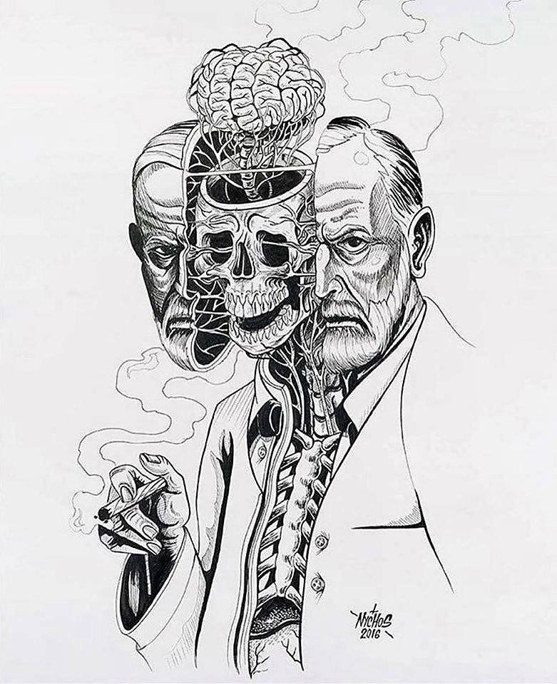 freud_by_collage_illustration_photomanipulation_contemporary_art_surreal_tribute
